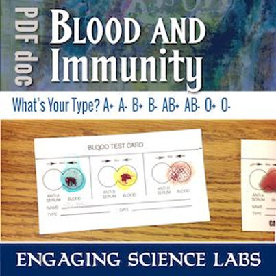 Blood Type Activity: Type Your Own Blood and Compare with Classmates