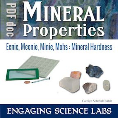 Rocks and Minerals: Investigate Mineral Hardness; Introduction to the Mohs scale