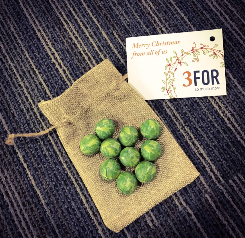 3FOR Xmas Brussel Sprouts
