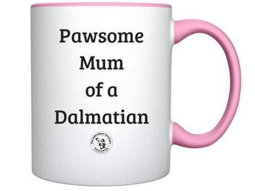Personalised Pawsome Mum mug
