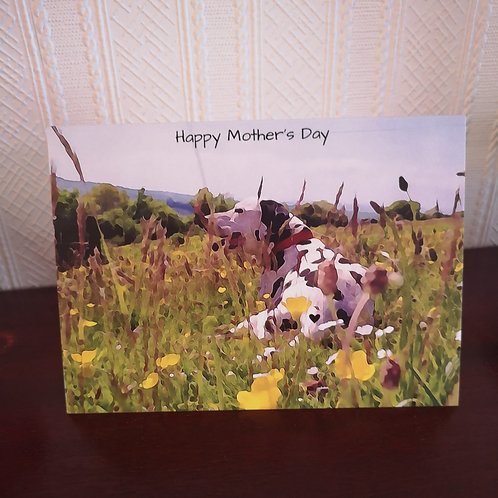 Happy Mother's Day Card, Black spotted Dalmatian