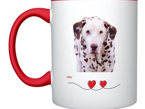 Liver spotted Dalmatian mug