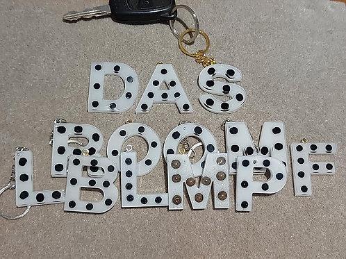 Dalmatian Initial Keyring/Charm