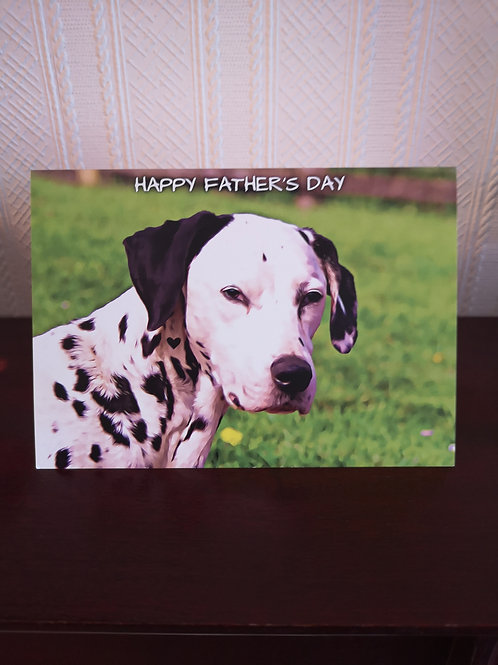 Happy Father's Day Card, Black spotted Dalmatian