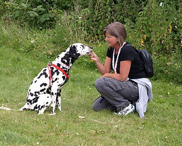 Sue and her dalmatian