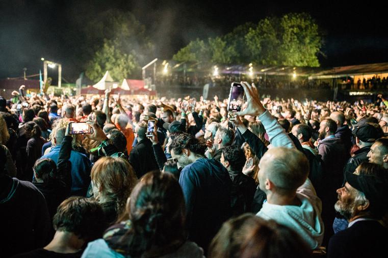 ambiance pendant le concert des Prophets of Rage.