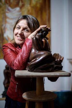 Mireille Zagolin, sculptrice.