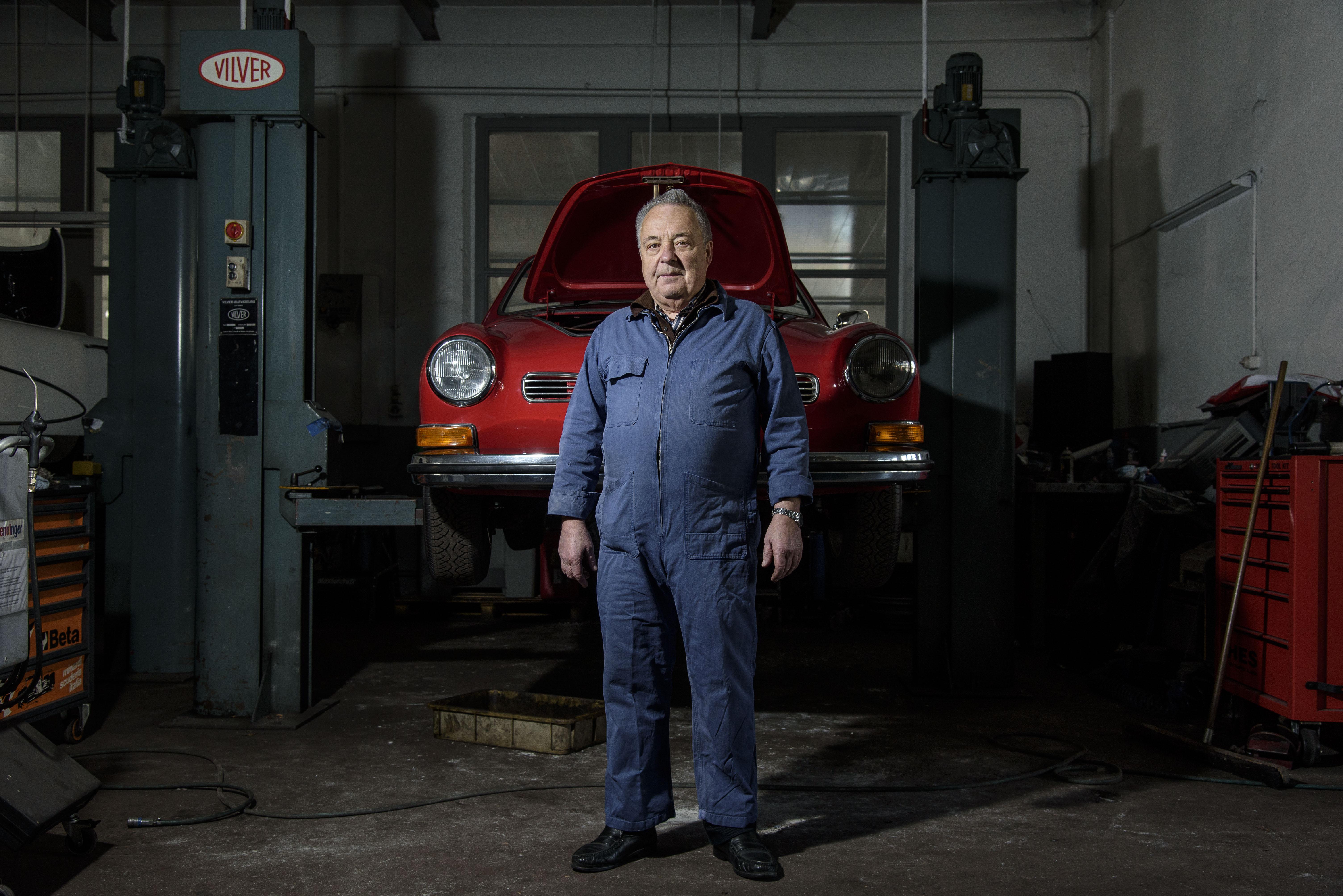 William Gallay, mécanicien auto