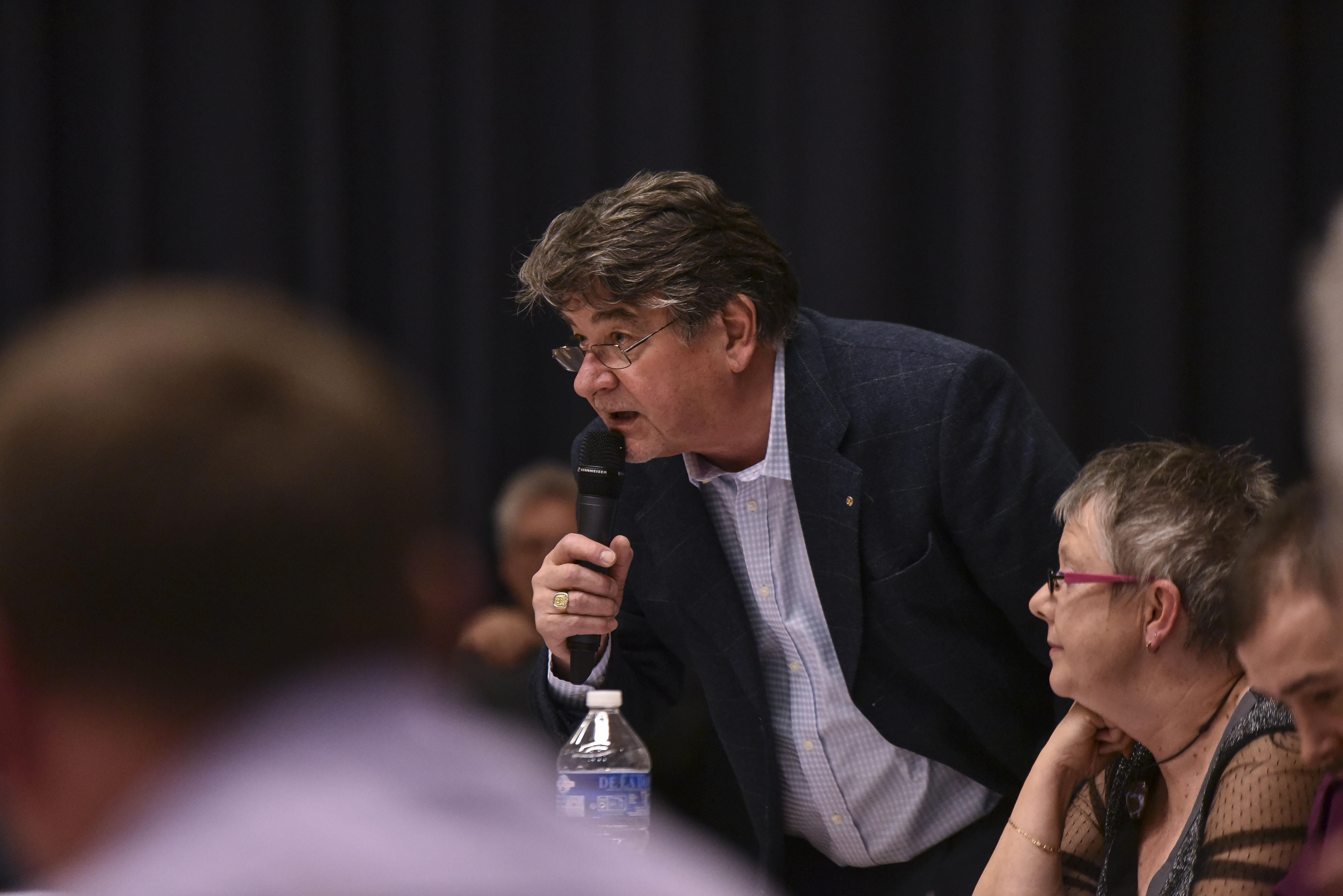 Pierre Schaller, lors d'un débat