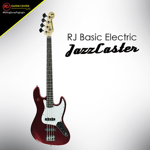 RJ Basic Electrics - Jazzcaster Bass Metallic Red