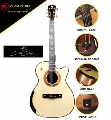 Rj Custom Shop Acoustic Agila - Orchestra Cutaway (Spruce-Koa)