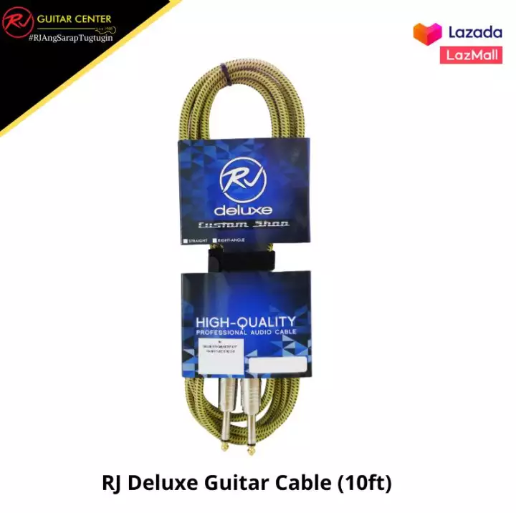 RJ Deluxe Guitar Cable Fender Tweed (10ft)