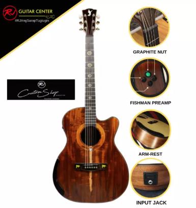 Rj Custom Shop Acoustic Agila - Orchestra Cutaway (Mahogany-Mahogany)