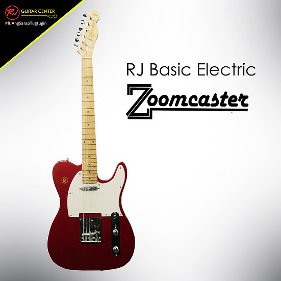 RJ Basic Electrics - Zoomcaster Electric Guitar Apple Red