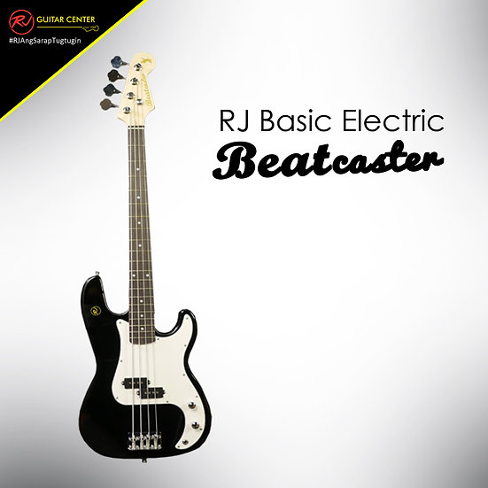 RJ Basic Electrics - Beatcaster Bass Guitar Metallic Black