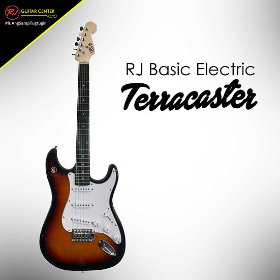 RJ Basic Electrics - Terracaster Electric Guitar 2 Tone Sunburst