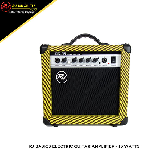 RJ Basics Electric Guitar Amplifier - 15 Watts