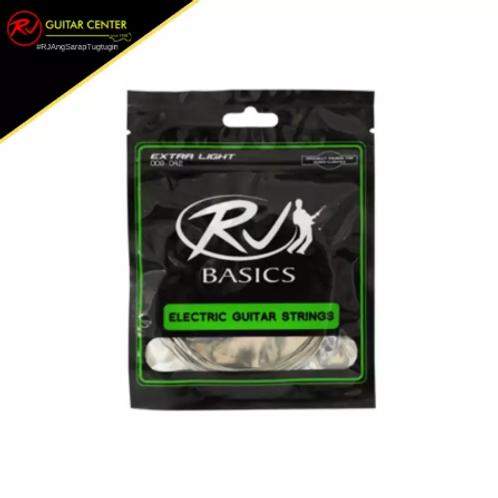 RJ Basics Strings - Electric Guitar (L 10-46 W/ FREE PICK)