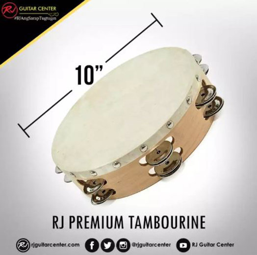 RJ Premium Tambourine 10 inches