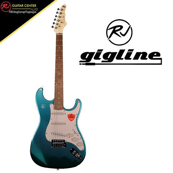 RJ Gigline - Skycaster - (Dodgem Blue, White Pickguard)