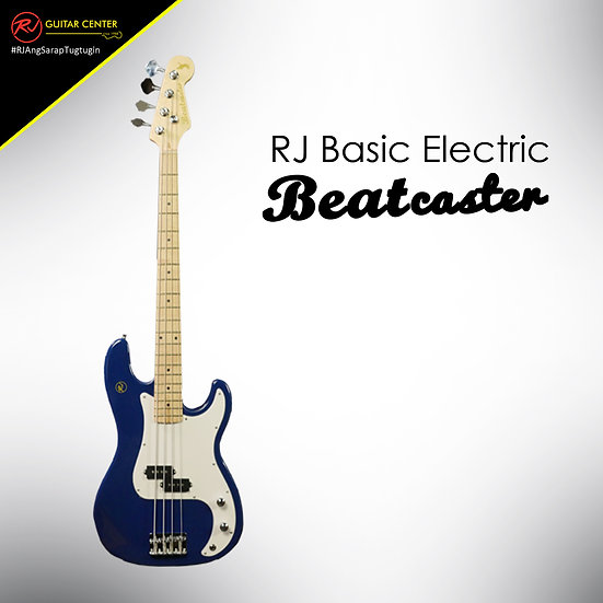 RJ Basic Electrics - Beatcaster Bass Guitar Metallic Blue