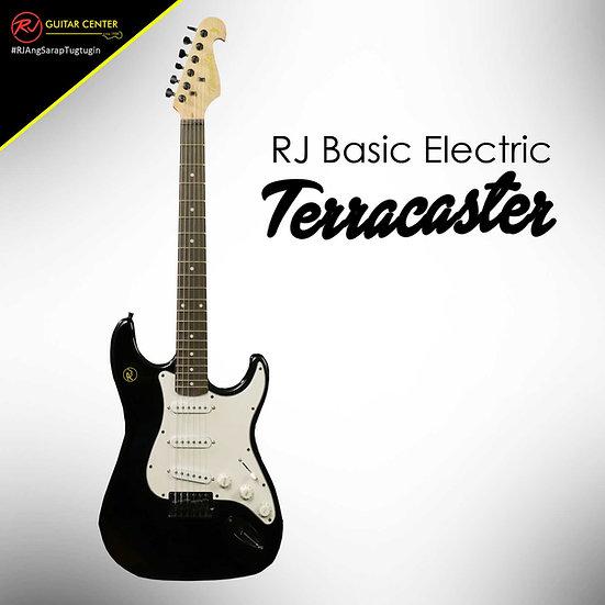 RJ Basic Electrics - Terracaster Electric Guitar Metallic Black