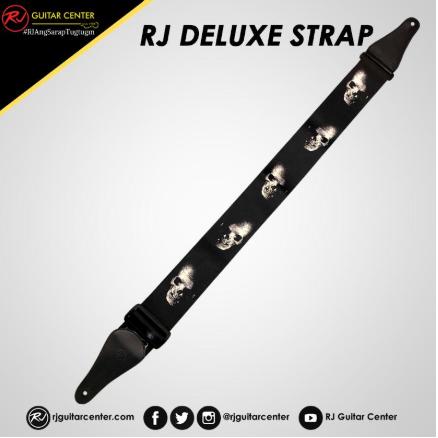 RJ Deluxe Guitar Strap Wide / Skull