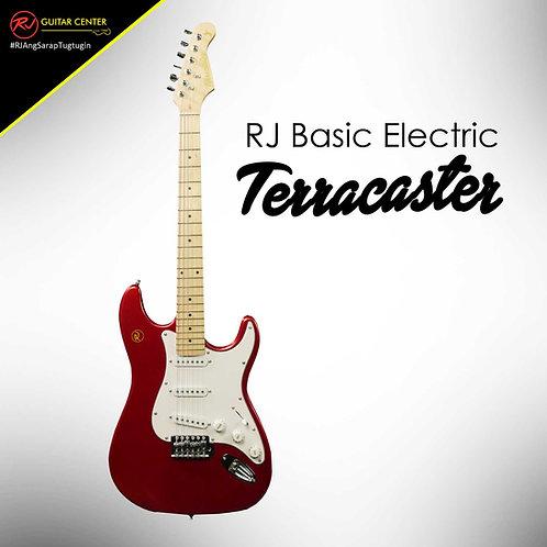 RJ Basic Electrics - Terracaster Electric Guitar Metallic Red