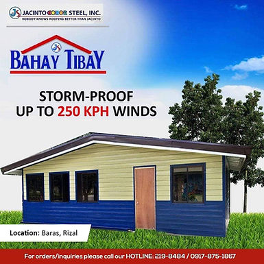 Storm-proof up to 250 kph winds