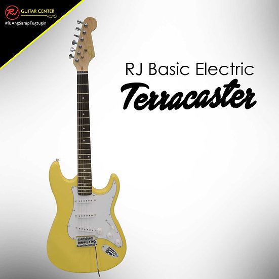 RJ Basic Electrics - Terracaster Electric Guitar Yellow