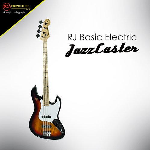 RJ Basic Electrics - Jazzcaster Bass 3 Tone Sunburst