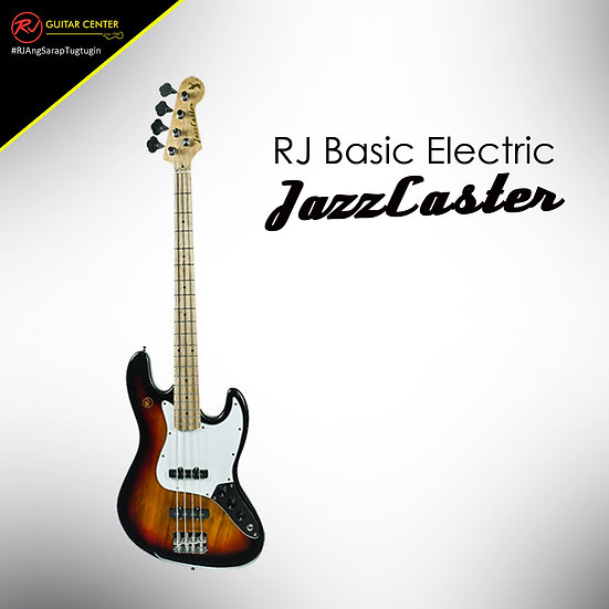 RJ Basic Electrics - Jazzcaster Bass 3 Tone Sunburst