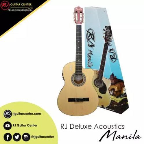 RJ Deluxe Manila Classical Nylon Acoustic Guitar - Natural Satin (EQ w/ Tuner)