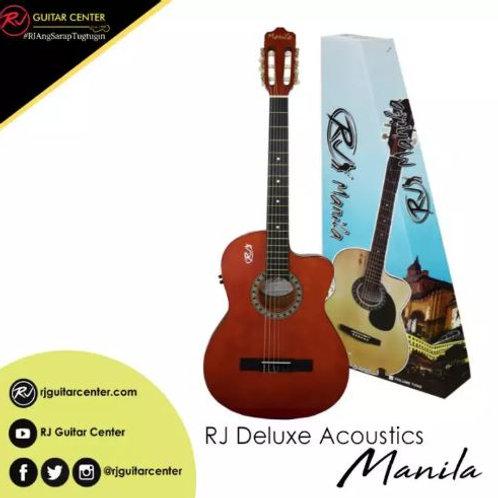 RJ Deluxe Manila Classical Nylon Acoustic Guitar - Orange (Volume Tone)