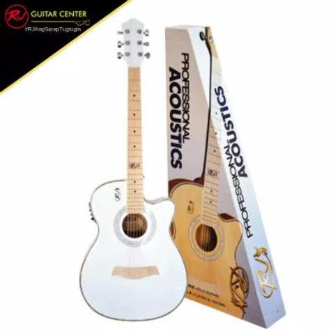 RJ Professional Prairie Folk Acoustics - White