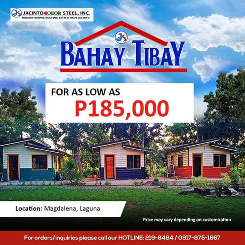 For as low as P185,000
