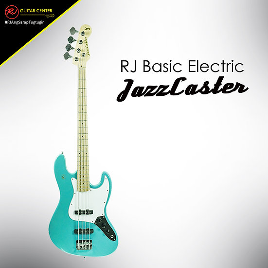 RJ Basic Electrics - Jazzcaster Bass Surf Green