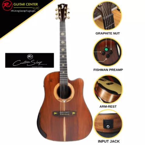 Rj Custom Shop Acoustic Agila - Dreadnought Cutaway (Mahogany-Mahogany)