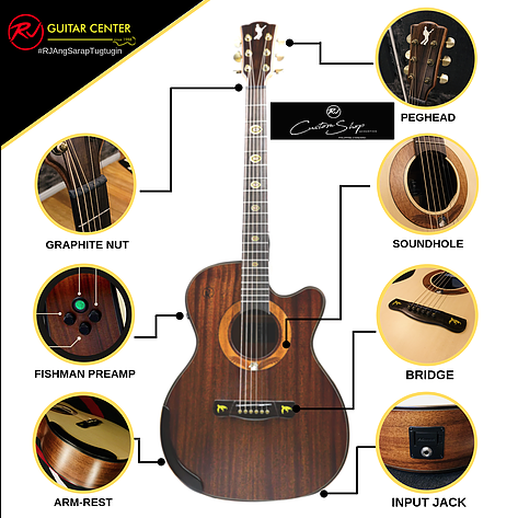 Rj Custom Shop Acoustic Agila - Orchestra Cutaway (Koa-Koa)
