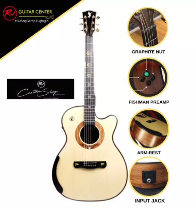Rj Custom Shop Acoustic Agila - Orchestra Cutaway (Spruce-Mahogany)