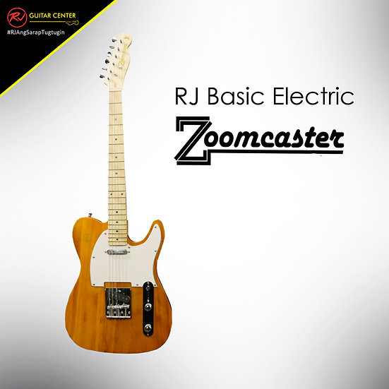 RJ Basic Electrics - Zoomcaster Electric Guitar Natural