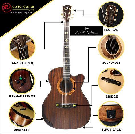 RJ Custom Shop Acoustics Agila - Orchestra Cutaway (Koa-Koa)