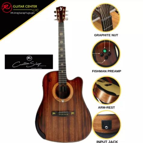 Rj Custom Shop Acoustic Agila - Dreadnought Cutaway (Koa-Koa)