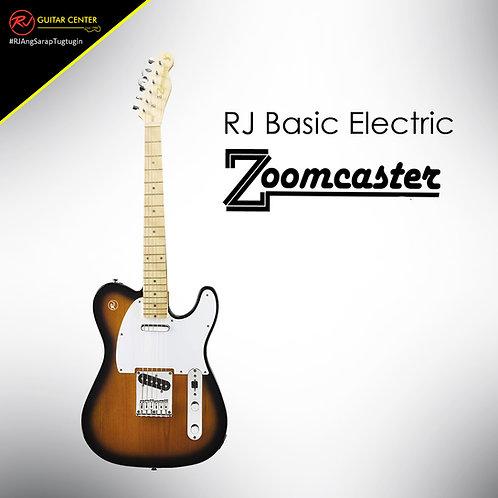 RJ Basic Electrics - Zoomcaster Electric Guitar 2 Tone Sunburst