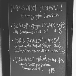 Scallop Festival Specials 💥_We're open all day Saturday from midday til late 💙_#getamongstit