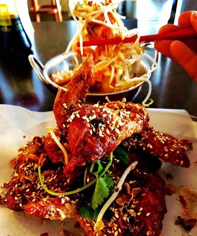 It's been a Spicy Korean Chicken Wing kinda day! 🍗 Awesome picture of these bad boys with our class