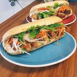Our Pork Belly Bánh Mì!! 💚 The perfect summer lunch, guaranteed to leave you feeling happy and full