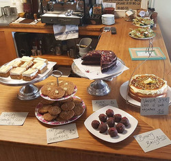 Amazing cakes and treats made by _ainsleybakes_ !! Come in to Blue Ginger now for a coffee and a swe