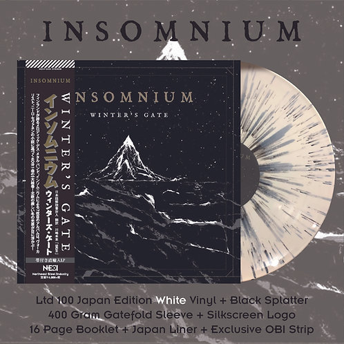 Insomnium - Winter's Gate Ltd 100 Japan Version White Vinyl + Black Splatter