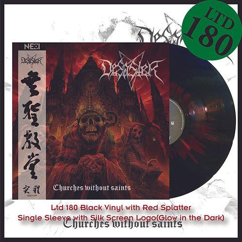 Desaster - Churches Without Saints Ltd 180 Black Vinyl+Red Splatter